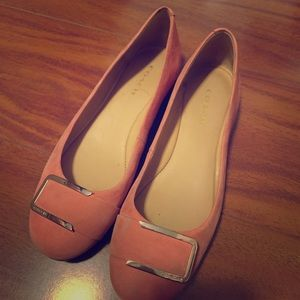 Coach pink suede flats